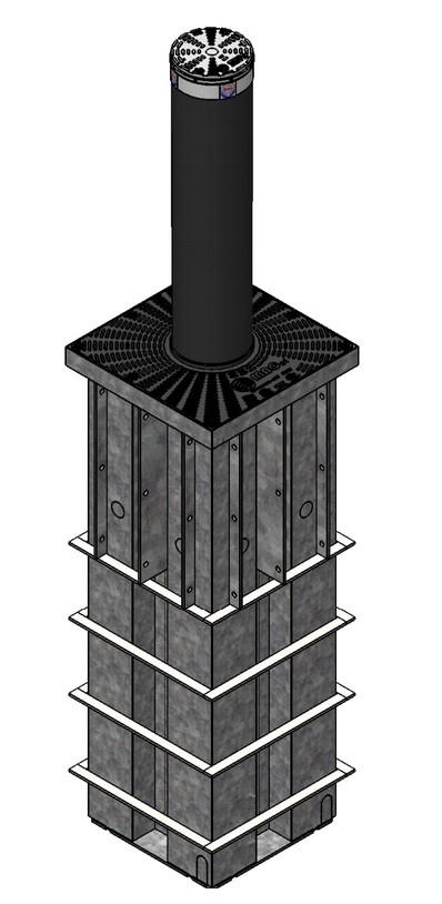 Słupek parkingowy antyterrorystyczny K275A-M50